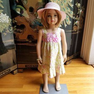 Jona Michelle Size 2T PInk Green Flowered Dress
